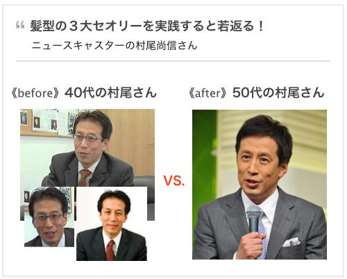 40代の髪型、おじさん臭い印象を一新する逆転のセオリー。ニュースZEROキャスター村尾信尚さん