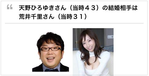 34歳美人女優と48歳中年男性は、どこで出会い、なぜ結婚したのか?キャイ〜ンの天野 妻